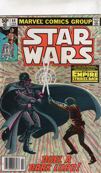 Star Wars #44 The Empire Strikes Back Conclusion! News Stand Variant VGFN
