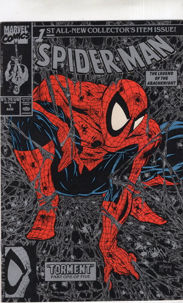 Spider-Man #1 Black Cover McFarlane Modern Age Key VFNM