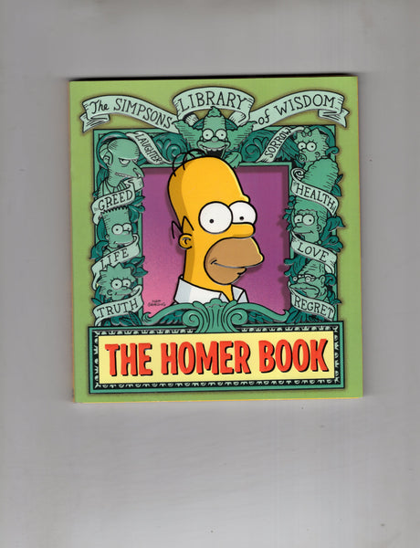 Simpsons Library Of Wisdom The Homer Book! Small Format Graphic Novel Style Larger than a Digest VF