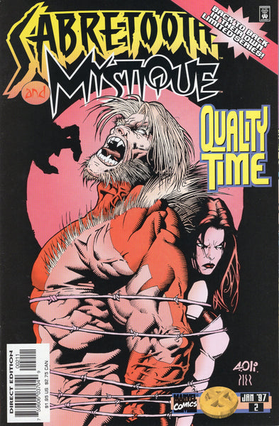 "Sabretooth And Mystique #2 of 4 ""Quality Time"" VF"