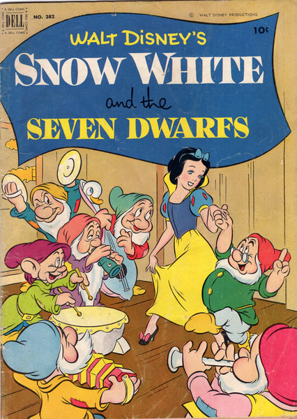 Four Color #382 Walt Disney's Snow White And The Seven Dwarfs HTF Golden Age Classic GD