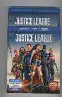 Justice League Blu-Ray + DVD + Digital Copy Excellent Condition