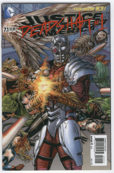 Justice League Of America #7.1 New 52 3D cover Deadshot NM First Print