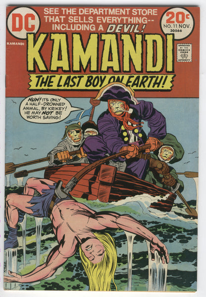 Kamandi The Last Boy On Earth #11 Bronze Age Kirby Classic FN