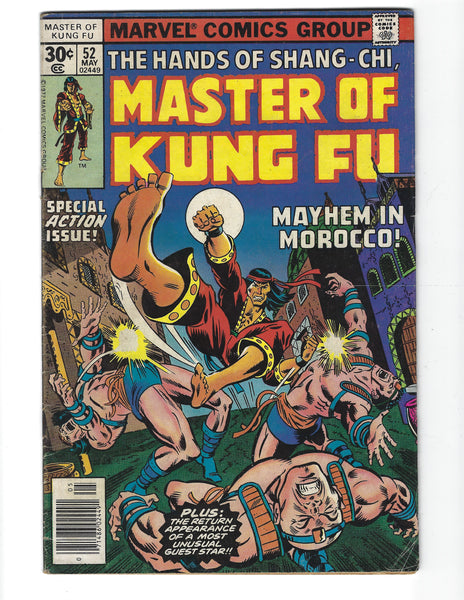 Master Of Kung Fu #52 Mayhem In Morocco! Bronze Age VG