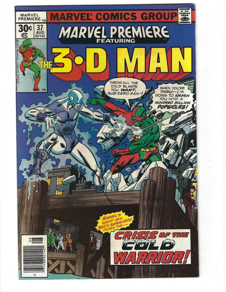 Marvel Premiere #37 The 3-D Man Bronze Age FVF