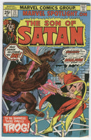 Marvel Spotlight #23 Son Of Satan What Dwells in the Darkness VGFN