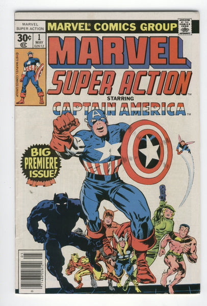 Marvel Super Action #1 Starring Captain America Bronze Age Classic VF