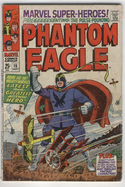 Marvel Super-Heroes #16 The Phantom Eagle and friends Silver Age GVG