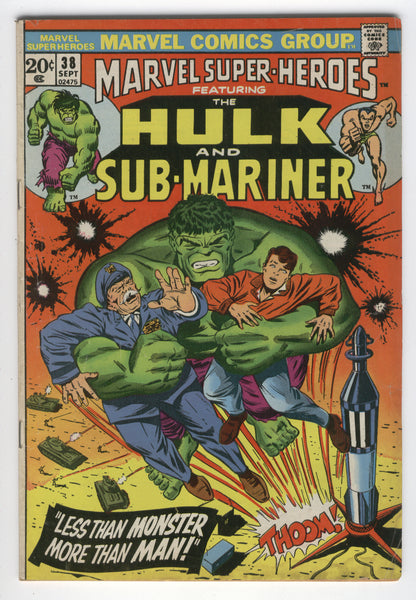 Marvel Super-Heroes #38 Hulk & Sub-Mariner Bronze Age REPRINT series VG