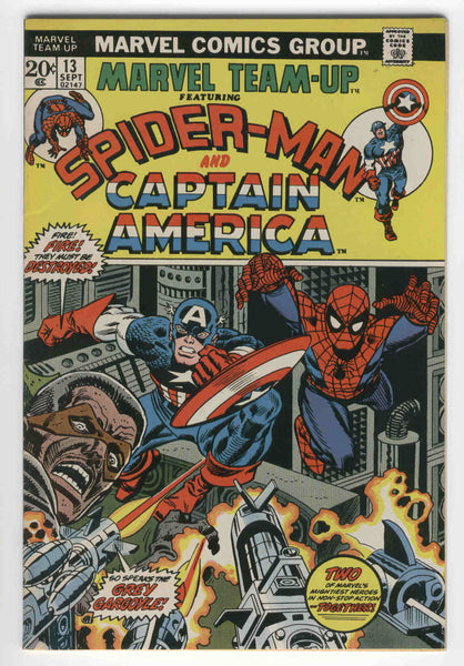 Marvel Team-Up #13 Spider-Man & Captain America Grey Gargoyle
