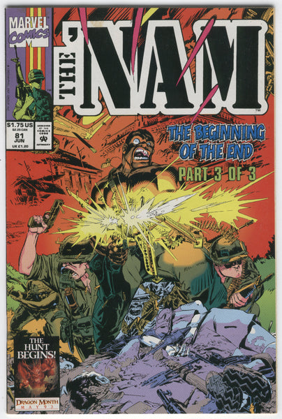 'Nam #81 The Beginning Of The End HTF Later Issue FVF