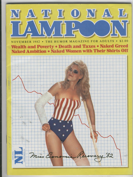 National Lampoon November 1982 Wealth And Poverty! Mature Readers VGFN