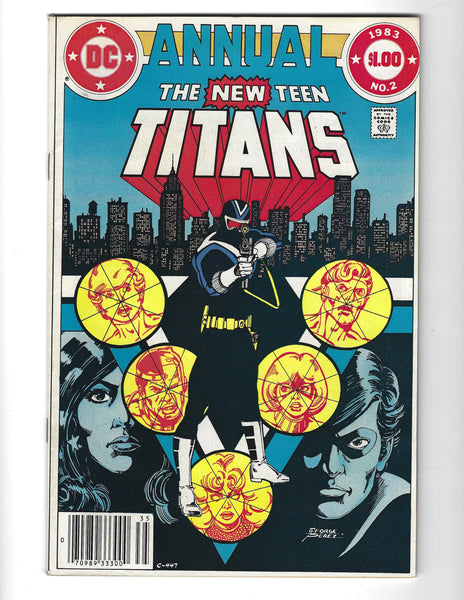 New Teen Titans Annual #2 First Vigilante! News Stand Variant VF-