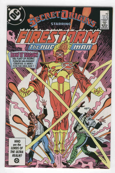 Secret Origins #4 Firestorm The Nuclear Man VF+