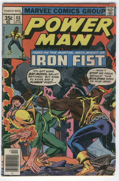 Power Man #48 first Iron Fist Team-Up with awesome John Byrne Art Bronze Age Key VG