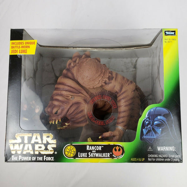 Star Wars Power Of The Force Rancor And Battle Weary Luke Skywalker Deluxe Action Figure Set Sealed in Box New