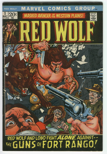 Red Wolf #1 Masked Avenger of the Western Plains Bronze Age Key FVF