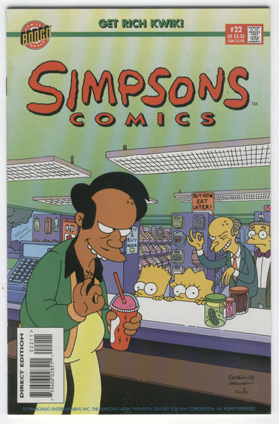 Simpsons Comics #22 VFNM