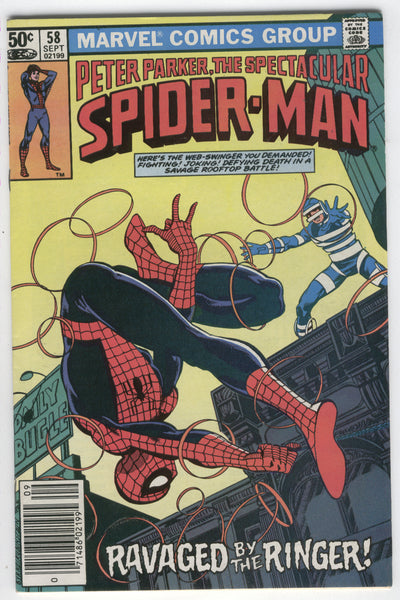 Spectacular Spider-Man #58 Ravaged By The Ringer! Byrne Art News Stand Variant FVF