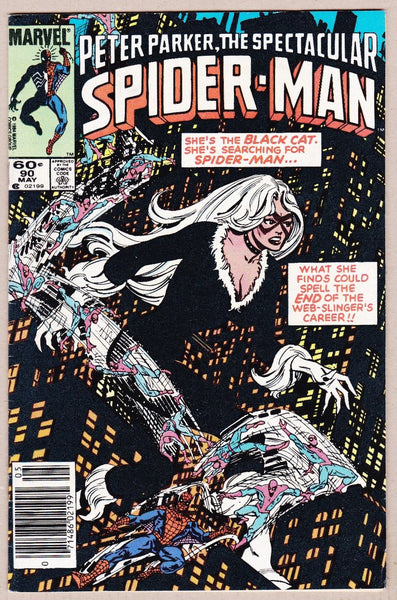 Spectacular Spider-Man #90 early Black Cat & Venom Costume News Stand Variant VF