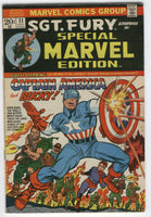 Special Marvel Edition #11 Sgt. Fury, Captain America & Bucky REPRINT FN
