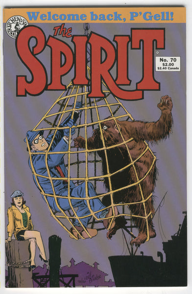 The Spirit #70 Will Eisner Kitchen Sink Press VF