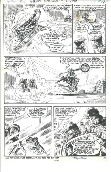 Marvel Spotlight #10 Page 21 Original Ghost Rider Artwork Tom Sutton Jim Mooney HTF Bronze Age