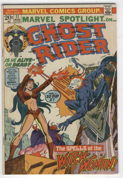 Marvel Spotlight #11 The Spells Of The Witch-Woman Ghost Rider Bronze Age Horror VGFN