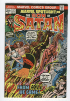 Marvel Spotlight #12 Son Of Satan Ominous Origin Issue Bronze Age Key FVF