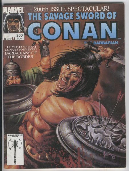 Savage Sword Of Conan #200 Barbarians Of The Border HTF Later Issue VGFN