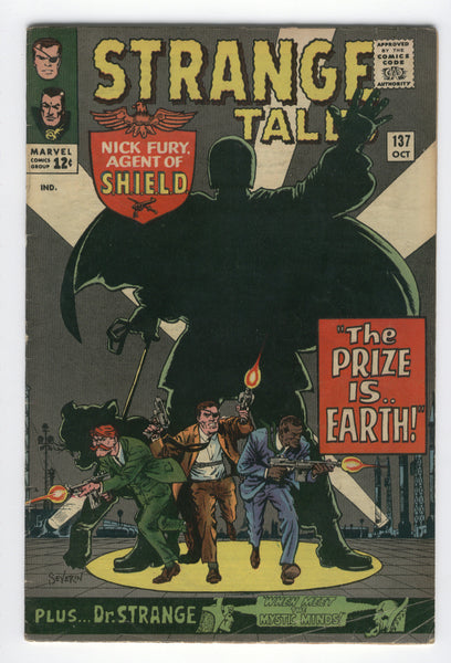 Strange Tales # 137 Nick Fury & Doctor Strange The Prize Is Earth  VG+