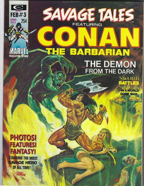 Savage Tales #3 Conan The Barbarian! Red Nails! BWS! Early Bronze Age Key! FVF