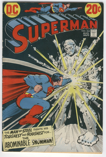 Superman #266 The Abominable Snowman Bronze Age Classic VG