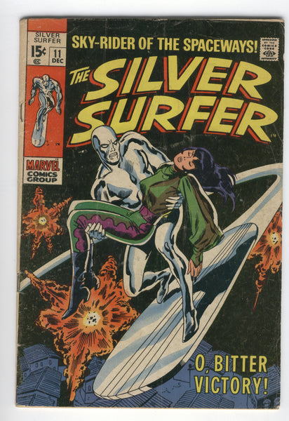 Silver Surfer #11 O, Bitter Victory Silver Age Buscema Art GD