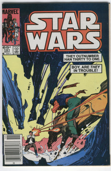 Star Wars #101 Han Solo Outnumbered HTF Later Issue News Stand Variant VG+