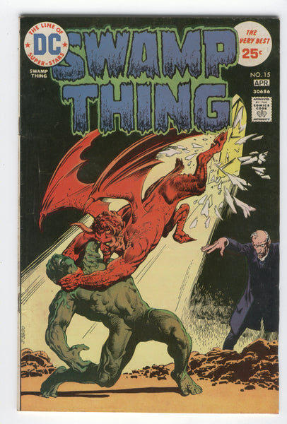 Swamp Thing #15 The Soul Spell Of Father Bliss Redondo Art Bronze Age classic FN