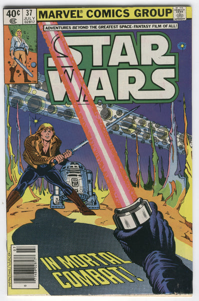 Star Wars #37 In Mortal Combat! News Stand Variant FN