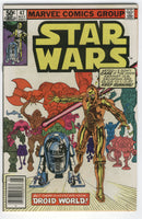 Star Wars #47 No Escape From Droid World News Stand Variant FVF