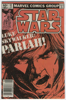 Star Wars #62 Luke Skywalker Pariah! News Stand Variant FN