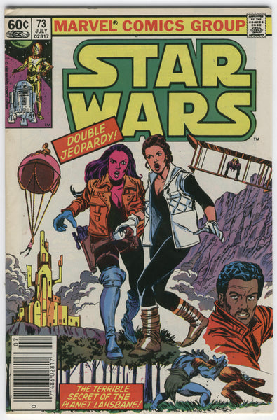 Star Wars #73 Double Jeopardy! News Stand Variant FN