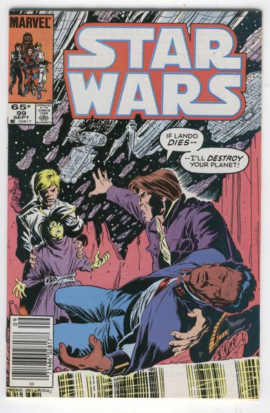 Star Wars #99 I'll Destroy Your Planet HTF Later Issue News Stand Variant FVF