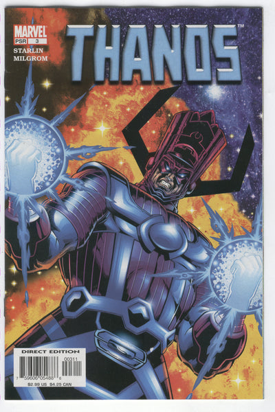 Thanos #3 Alone Against Galactus Starlin Story & Art VF