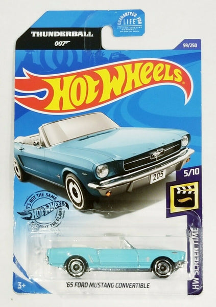 Hot Wheels James Bond 007 Thunderball '65 Mustang Convertible Die-Cast Screen Time 5/10 Sealed New On Card