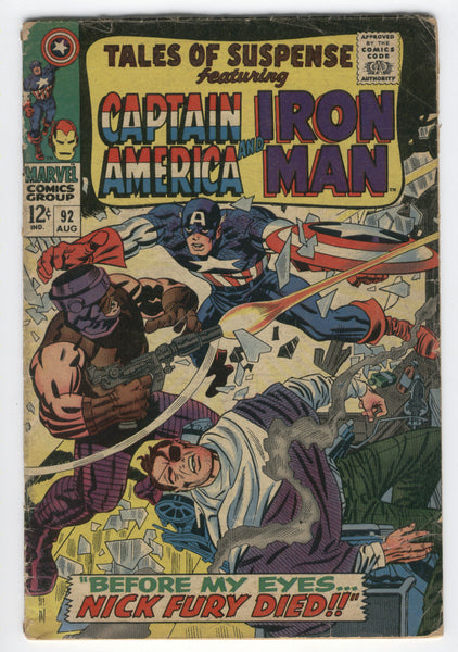 Tales Of Suspense #92 Captain America and Iron Man silver Age Classic GVG