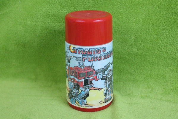 Transformers Plastic Thermos 1984 Very Nice Condition