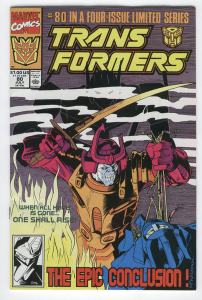 Transformers #80 in a Four Issue Limited Series HTF Last Issue VF