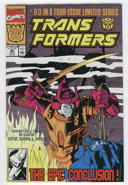 Transformers #80 The Epic Conclusion HTF Last Issue of the Original Series FVF
