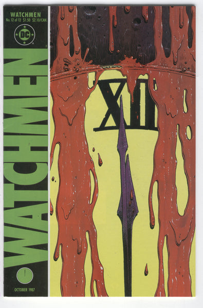 Watchmen #12 The Day The Earth Stood Still HTF Last Issue Alan Moore Dave Gibbons VFNM