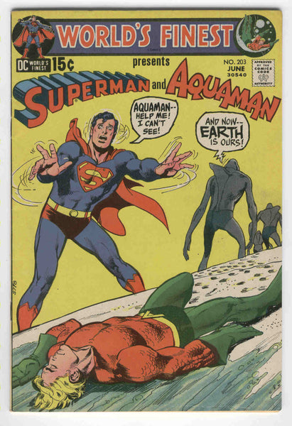 World's Finest #203 Superman And Aquaman The Earth Is Ours Bronze Age Classic FVF